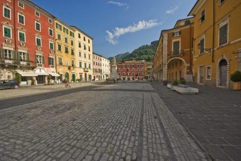 Carrara, stenbrudd, marmor, Toscana, Midt-Italia, Italia