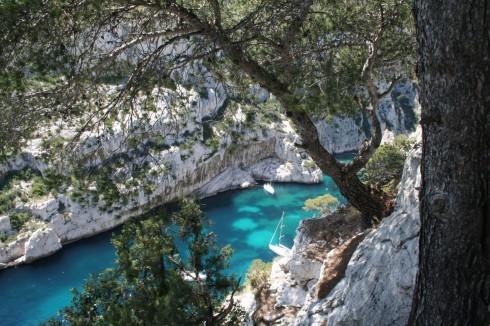 Kysten ved Cassis har mange vakre bukter, Calanques, Provence, Cote d'Azur, Sør-Frankrike, Frankrike