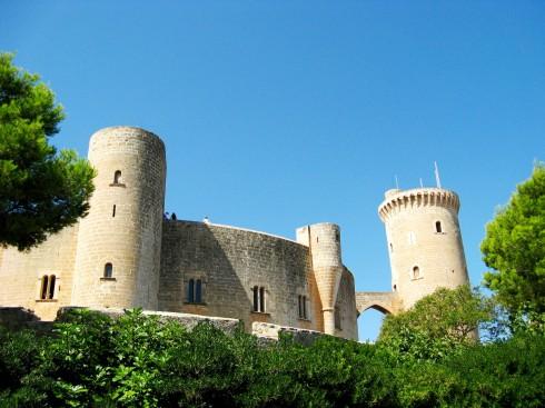 Castel de Bellver, Palma, middelalderen, historisk bysenter, gamleby, Mallorca, Balearene, Spania