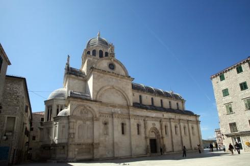 St Jacob, katedral-plassen, Sibenik, Adriaterhavet, Unescos liste over Verdensarven, middelalder, renessanse, Zadarkysten og øyene, Kroatia