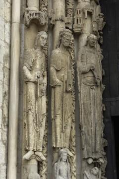 Chartres, Cathédrale Notre Dame, kongeportalen, Unescos liste over Verdensarven, Vieux ville, gamlebyen, Loire-dalen, Frankrike