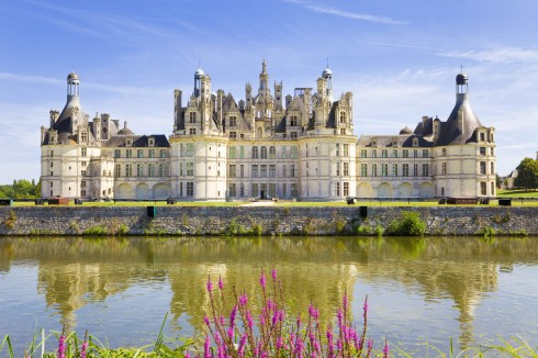 Chambord Chateau, Loiredalen, Loire, Vest-Frankrike, Frankrike