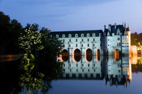 Chateau Chenonceau, Slottene, Indre-et-Loire, Loiredalen, Vest-Frankrike, Frankrike