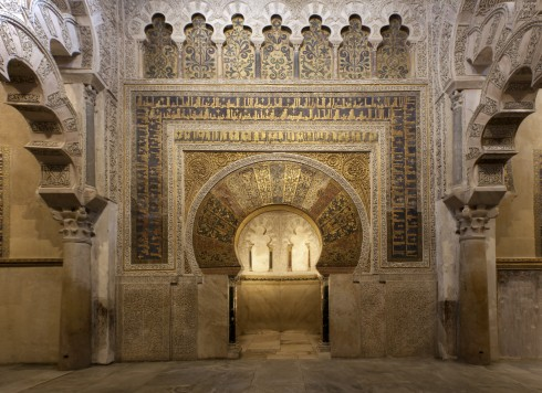 Mihrab, Cordoba, katedral-moskéen La Mezquita, Guadalquivir, Unescos liste over Verdensarven, historisk bydel, gamleby, Andalucia, Spania