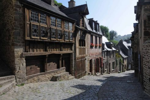 Dinan, historisk, gamleby, middelalder, Bretagne, Vest-Frankrike, Frankrike
