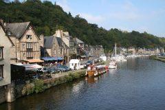 Dinan, historisk, bindingsverkshus, gamleby, middelalder, Bretagne, Vest-Frankrike, Frankrike