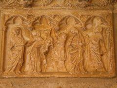 Elne, Pyrenee Atlantique, Katedral, Cathédrale de Ste.-Eulalie et St.-Julie, klostergang, Viuex ville, gamlebyen, middelalder, Sør-Frankrike, Frankrike