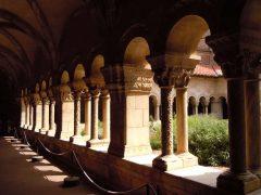 Elne, Pyrenee Atlantique, Katedral, klostergang, Viuex ville, gamlebyen,middelalder, Sør-Frankrike, Frankrike
