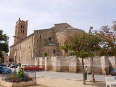 Cathédrale de Ste.-Eulalie et St.-Julie, Elne, Pyrenee Atlantique, Katedral, klostergang, Viuex ville, gamlebyen, Canal du Midi, middelalder, Sør-Frankrike, Frankrike
