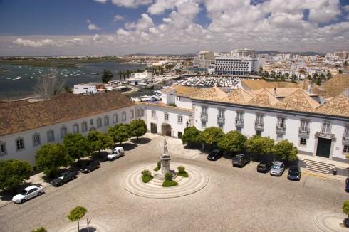 bispepalasset, gamlebyen, Algarvekysten, Sør-Portugal, Portugal