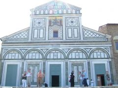San Miniato al Monte, Firenze, renessanse, middelalder, Unescos liste over Verdensarven, historisk bydel, gamleby, Toscana, Midt-Italia, Italia