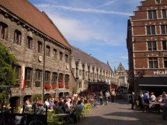 Grotvleeshuis, Ghent, kanaler, St Baafs Plas, historisk, Unescos liste over Verdensarven, øl, bryggerier, gourmet, gamleby, gotikken, renessansen, barokken, Flandern, Belgia