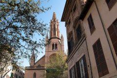 Den gotiske Santa Eulàlia, Palma, middelalderen, historisk bysenter, gamleby, Mallorca, Balearene, Spania