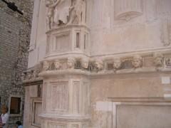St Jacobs katedral og frisen med 71 portretter, Sibenik, Adriaterhavet, gamlebyen, historisk bysenter, Unescos liste over Verdensarven, middelalder, renessanse, Zadarkysten og øyene, Kroatia