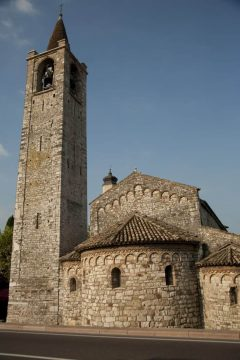 Bardolinos kirke San Severo, Gardasjøen, Lago di Garda, Lombardia, Trentino, Nord-Italia, Italia