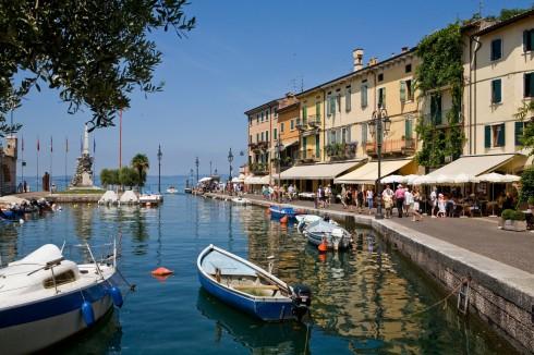 Lazise, Gardasjøen, Lago di Garda, Lombardia, Trentino, Nord-Italia, Italia