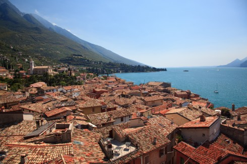 Malcesine - middelealder, Gardasjøen, Lago di Garda, Lombardia, Trentino, Nord-Italia, Italia