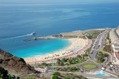 Playa de Amadores på Gran Canaria, Kanariøyene, Spania