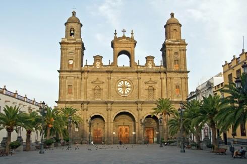 Catedral de Santa Ana, Unescos liste over Verdensarven, Plaza de Santa Ana in Las Palmas de Gran Canaria, Las Palmas, Gran canaria, Kanariøyene, Spania