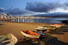 Playa de las Canteras i Las Palmas, Unescos liste over Verdensarven, Las Palmas, Gran canaria, Kanariøyene, Spania