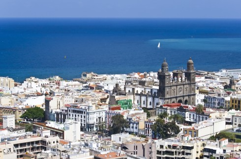 Catedral de Santa Ana ligger i den historiske bydelen, Unescos liste over Verdensarven, La Vegueta, Las Palmas, Gran canaria, Kanariøyene, Spania