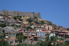 Molivos, kastell,  Mytilini, Lesbos, antikken, Øyene, Hellas