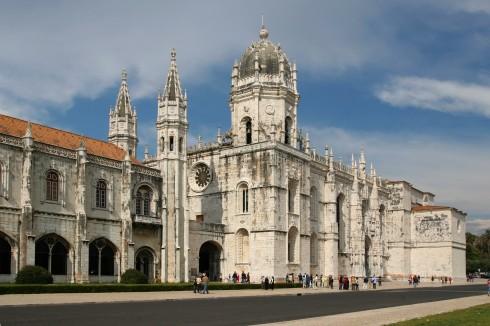 Klosteret Moseiro de Jeronimos, Lisboa, elven Tajo, Baixa, historisk, Alfama, gamlebyen Bairro Alto, Belém, Unescos liste over Verdensarven, Midt-Portugal, Portugal