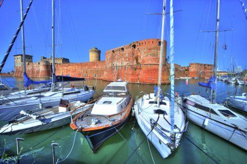 Fortezza, havn, Livorno, Toscana, Midt-Italia, Italia