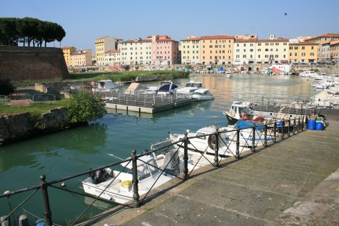 Livorno, Fortezza, kanalene, Toscana, Midt-Italia, Italia