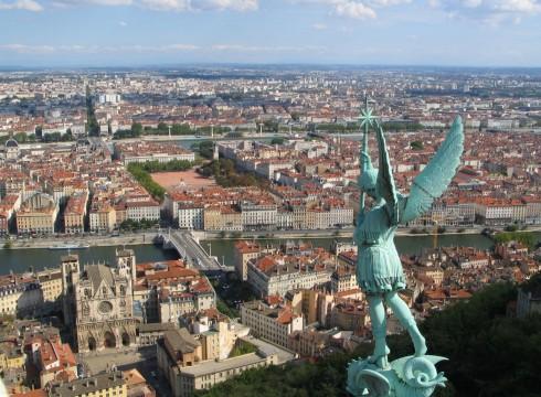 Lyon, gamlebyen, Vieux Ville, middelalder, historisk bysenter, romerske teatre, romertid, romersk teater, renessanse, silkeveverier, gourmet-byen, Paul Bocuse, Midt-Frankrike, Frankrike