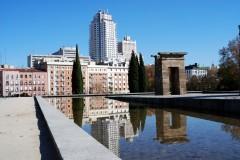 Templo de Debod, Historisk bydel, gamleby, Madrid, Madrid og innlandet, Spania