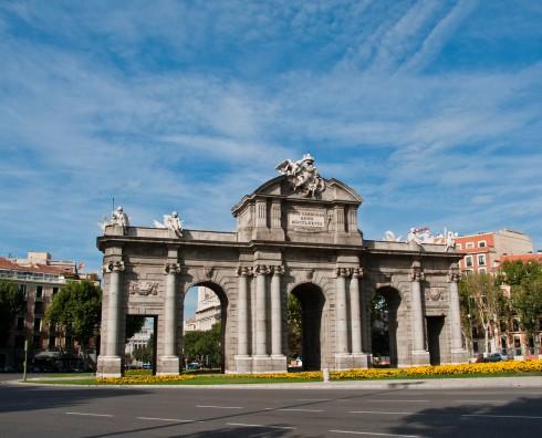 Puerta de Alcalá, Plaza de la Independenzia, Parco del Retiro, Unescos liste over Verdensarven, historisk bydel, gamleby, Madrid, Madrid og innlandet, Spania