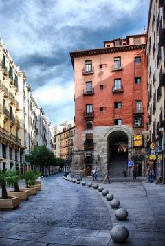 Calle de Los Cuchilleros, Plaza Mayor, Unescos liste over Verdensarven, historisk bydel, gamleby, Madrid, Madrid og innlandet, Spania