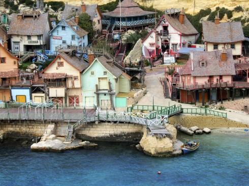 Popeye's Village Malta, templene, Unescos liste over Verdensarven, korsfarere, Johanitter-ordenen, renessansen barokken, Valletta, Malta