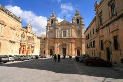 St Pauls Cathedral, Mdina, Malta, templene, Unescos liste over Verdensarven, korsfarere, Johanitter-ordenen, renessansen barokken, Valletta, Malta