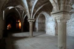 Mont St-Michel, middelalderen, romansk stil, Normandie, Vest-Frankrike, Frankrike
