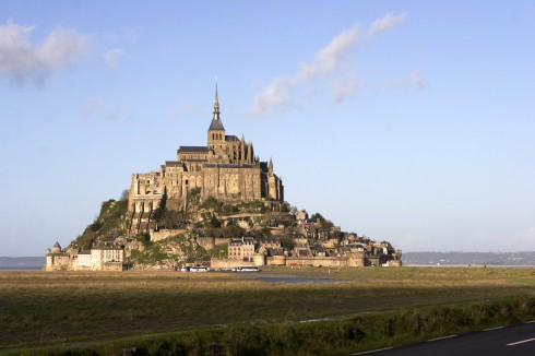 Mont St-Michel, Normandie, Vest-Frankrike, Frankrike