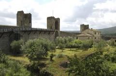 Montereggioni, kastell, festningsby, historisk bydel, gamleby, Toscana, Midt-Italia, Italia