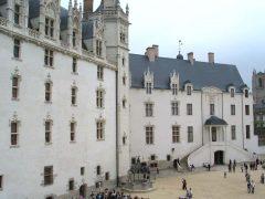 Chateau des Ducs de Bretagne, Nantes, historisk, bindingsverkshus, gamleby, middelalder, Loiredalen, Vest-Frankrike, Frankrike
