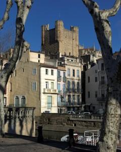 Katedral, Viuex ville, gamlebyen, Canal du Midi, Narbonne, Ponte Marchant, middelalder, Sør-Frankrike, Frankrike