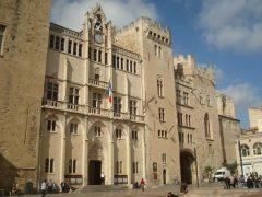 Narbonnes Palais des Archeveques, Katedral, Viuex ville, gamlebyen, Canal du Midi, Narbonne, Ponte Marchant, middelalder, Sør-Frankrike, Frankrike