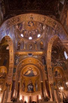 Cappella Palatina i det normanniske Palazzo Reale, Palermo, Sicilia, normannisk, Sør-Italia, Italia