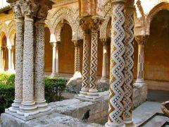 Benediktinerklosteret i Monreale, Palermo, Sicilia, normannisk, Sør-Italia, Italia