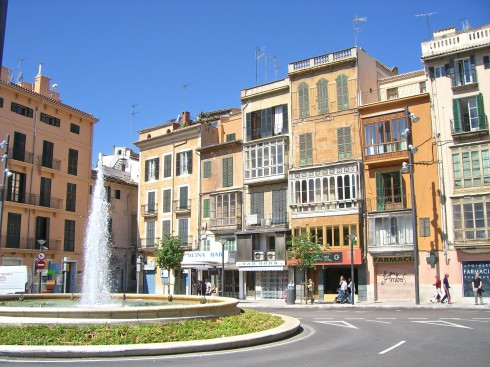 Fra Plaza Reina nederst på Passeig des Born, Palma, middelalderen, historisk bysenter, gamleby, Mallorca, Balearene, Spania