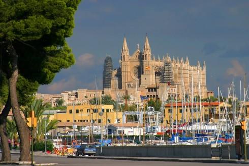 Katedralen, Palma, middelalderen, historisk bysenter, gamleby, Mallorca, Balearene, Spania