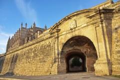 Bymur, Palma, middelalderen, historisk bysenter, gamleby, Mallorca, Balearene, Spania