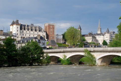 Chateau de Pau fra 1100-tallet, Pau, Viuex ville, gamlebyen, middelalder, Sørvest-Frankrike, Frankrike