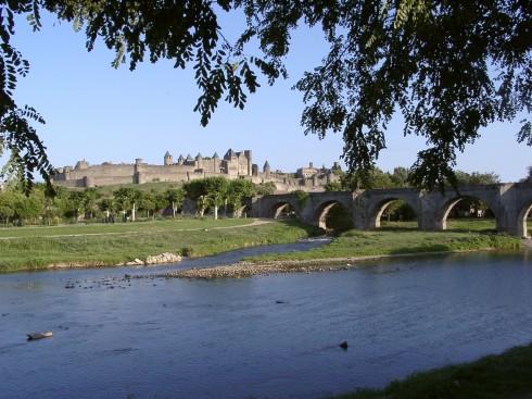 Carcassonne, Pau, Viuex ville, gamlebyen, middelalder, Sørvest-Frankrike, Frankrike
