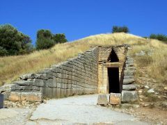 Atreus grav ved Mykene, Peloponnes, Hellas