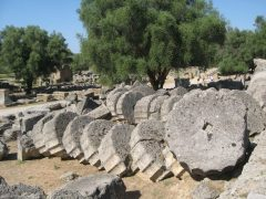 Zeus-tempelet i Olympia, Peloponnes, Hellas